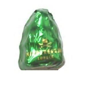 Green Foiled Christmas Tree Dark Chocolate Marzipan NIEDEREGGER 12.5g