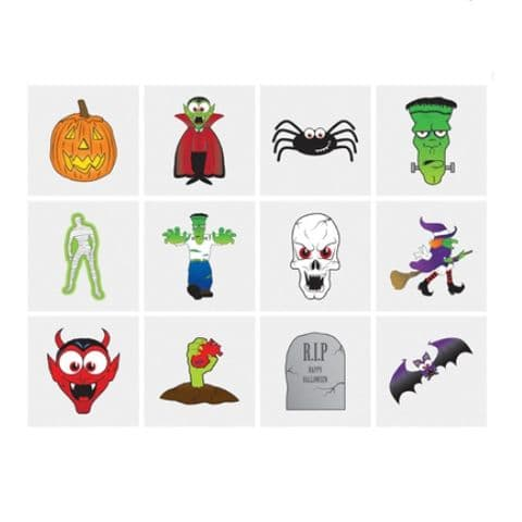 Halloween - Pack of 12 Mini Tattoos