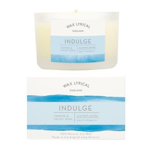 Indulge Jasmine & Velvet Rose 100% Natural Soy Wax Candle Glass Equilibrium Wax Lyrical 50g