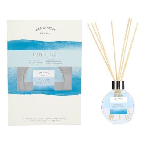 Indulge Jasmine & Velvet Rose Fragranced Reed Diffuser Equilibrium Wax Lyrical 100ml