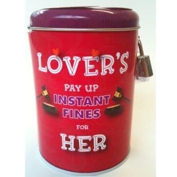 LOVER'S HER - Instant Fines Tin & Padlock