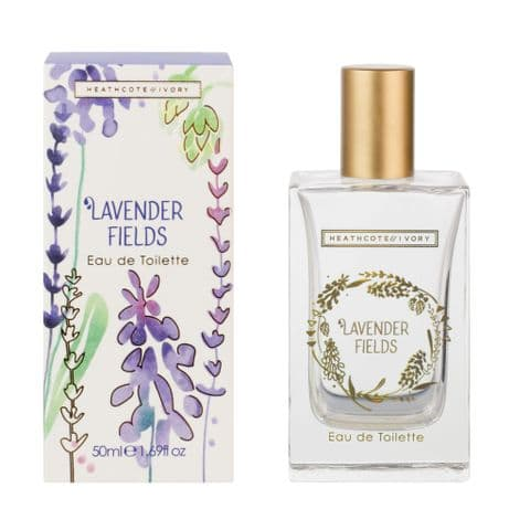 Lavender Fields Eau De Toilette Perfume EDT 50ml Heathcote & Ivory