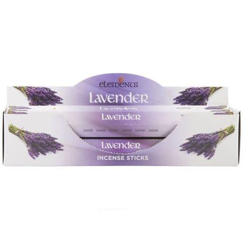 Lavender Scented Incense Sticks Elements Indian - Tube Of 20