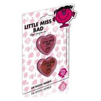 Little Miss BAD - 2 x Lip Gloss Hearts Twin Pack