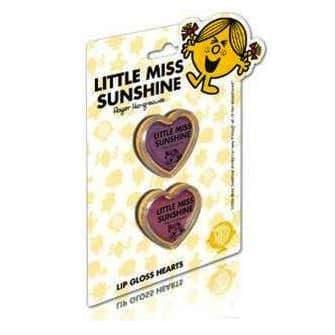 Little Miss SUNSHINE - 2 x Lip Gloss Hearts Twin Pack