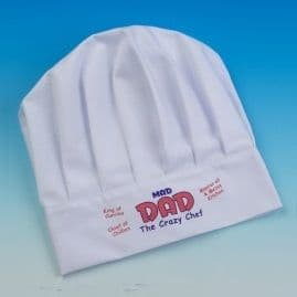 Mad DAD - White Adults Chefs Hat (The Crazy Chef)