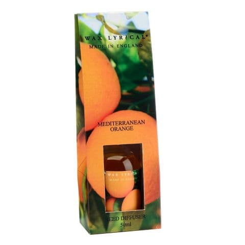 Mediterranean Orange Fragranced Mini Reed Diffuser Made In England Wax Lyrical 50ml