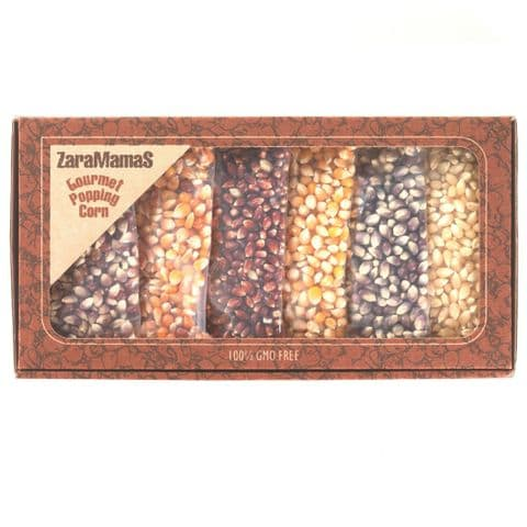 Mixed 6 Pack Popcorn Gift Box 540g- ZaraMama Gourmet Popping Corn