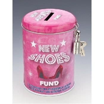 NEW SHOES FUND - Money Savings Tin & Padlock