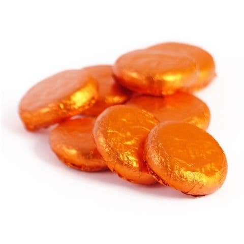 Orange Cremes - Fondant Creams Orange Foiled Whitakers Chocolates