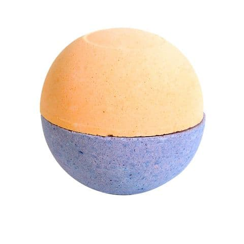 Orange & Patchouli Scented Bath Fizzers Bombs - Bath Bubble & Beyond 2 x 100g