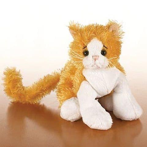 Orange & White Cat - Webkinz Lil Kinz Plush Toy