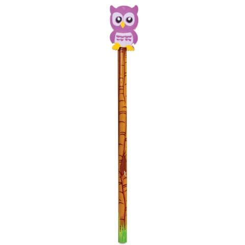 Owl Eraser Topper & Pencil - Assorted Colours (1 Supplied)