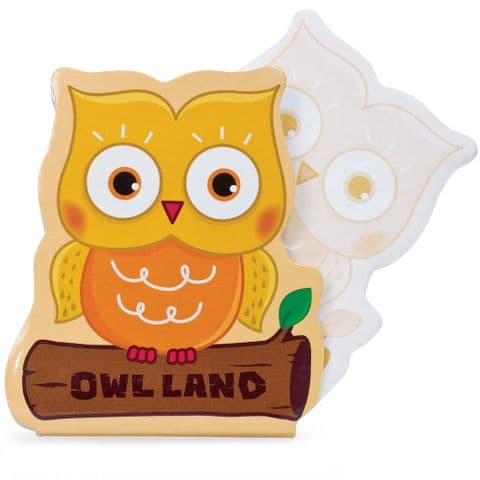 Owl Notepad Jotter Notebook - Assorted Colours (1 Supplied)