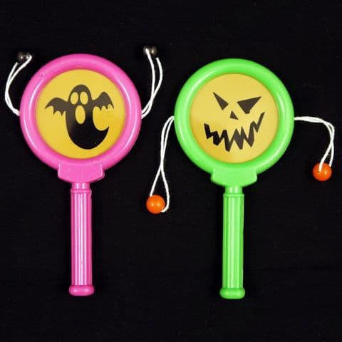 Paddle Drums HALLOWEEN (Black Green Orange or Purple) Party Bag Toys