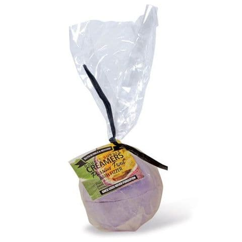 Passion Fruit Scented Double Bubble Creamer Bath Fizzer Bomb - Bath Bubble & Beyond 200g