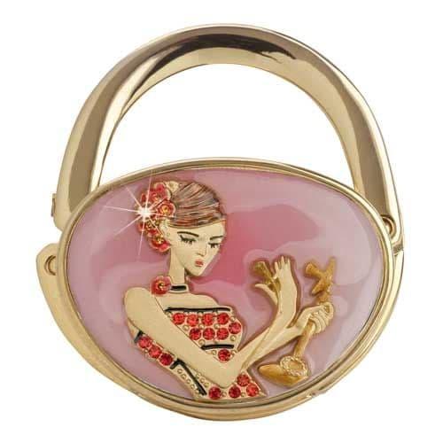Pink Candlestick Call GOLD - Handbag Hook / Hanger - Yvette Jordan Vanity Fair by Arora Design