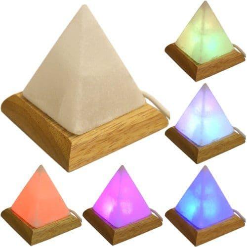 Pyramid USB Colour Changing Himalayan Salt Lamp