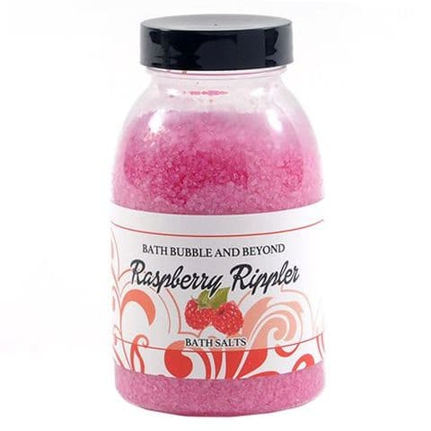 Raspberry Rippler Non-Foaming Bath Salts - Bath Bubble & Beyond 300g