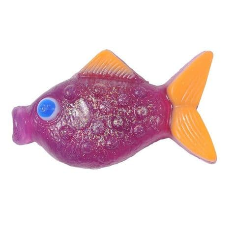 Raspberry Scented Purple Glitter Fish Soap - Bath Bubble & Beyond 180g