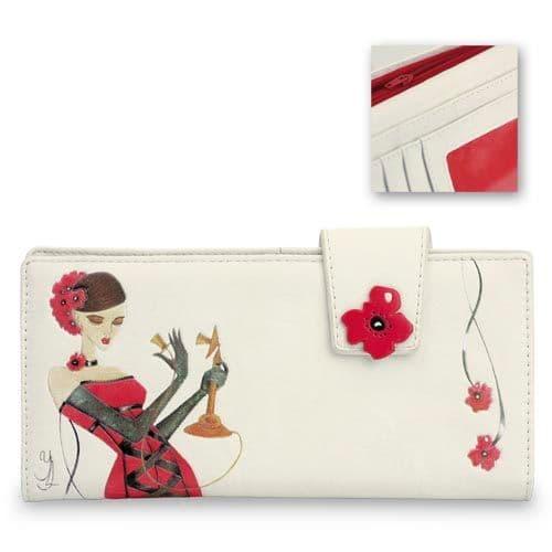 Red Candlestick Call - Leatherette Ladies Wallet / Purse - Yvette Jordan by VANITY FAIR