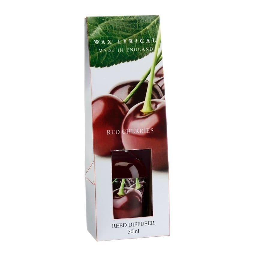 Red Cherries Fragranced Mini Reed Diffuser Made In England Wax Lyrical 50ml