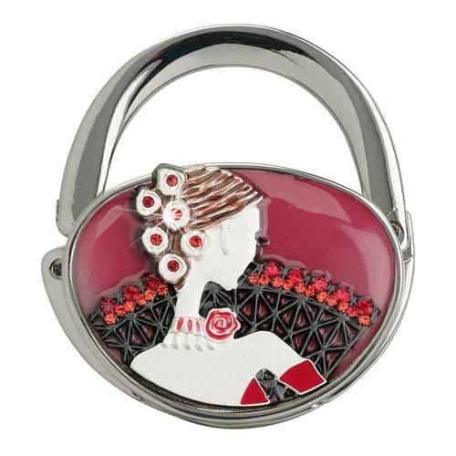 Red Senorita SILVER - Handbag Hook / Hanger - Yvette Jordan Vanity Fair by Arora Design