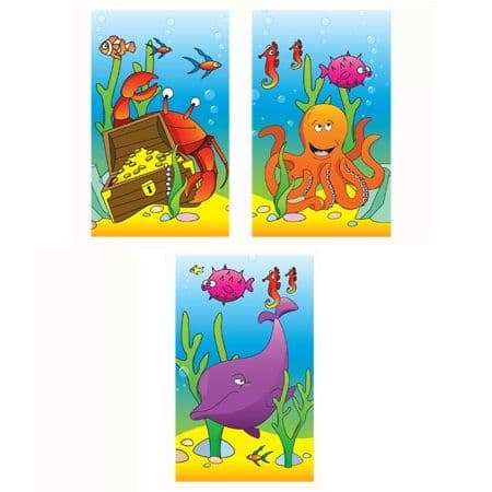 Sealife Fish Ocean Notebook Notepad Jotter - Boys & Girls Party Bag Fillers