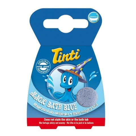 Single Blue Magic Bath BOMB Fizzer - TINTI Zauberbad - Box of 1 Ball