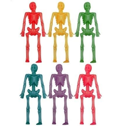 Small Stretchy SKELETON Halloween - Assorted Colours (1 Supplied)