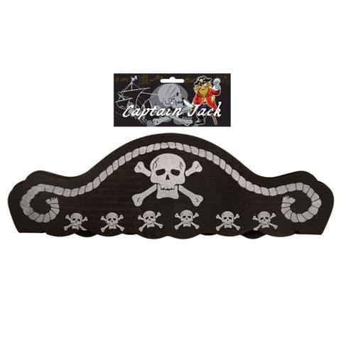 Soft Foam Pirate Captains Hat Skull & Crossbones - Adult or Child