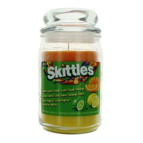 Sour Lemon, Lime & Orange  Scented - Skittles Large Jar Candle 130 Hours