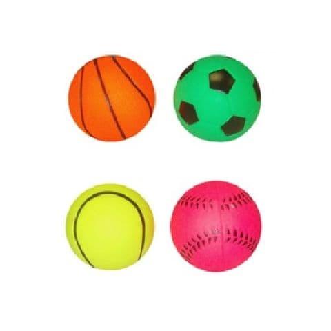 Sports Hi Bounce Face Hard Sponge Rubber Bouncy Ball Dog - Assorted