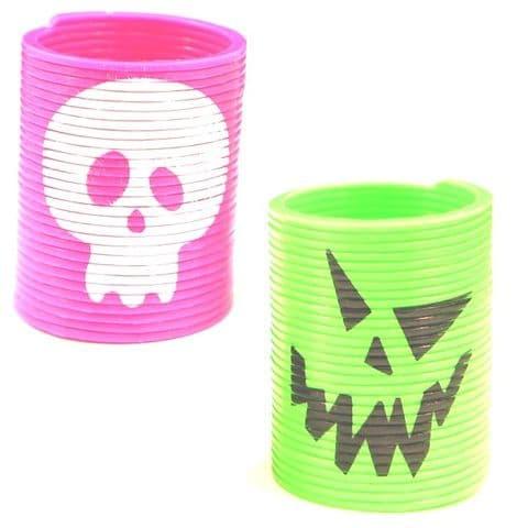 Spring Slinky Coils HALLOWEEN (Black Green Orange or Purple) Party Bag Toys