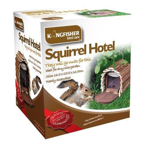 Squirrel Hotel - Wooden Hanging Feeding Station Box