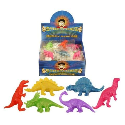 Stretchy Dinosaurs - Stretchies Party Bag Fillers Favours Toys - Assorted Colours