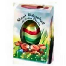 Stripey Real Eggshell Praline Chocolate Easter Eggs - 50g