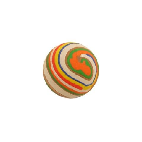 Stripy - Hi Bounce Hard Sponge Rubber Bouncy Ball Dog Toy