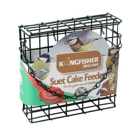 Suet Cake Feeder / Holder For Wild Garden Birds Kingfisher Bird Care (Green)