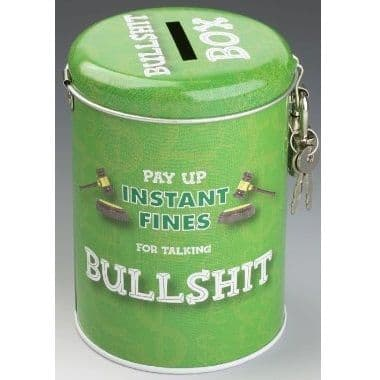 TALKING BULLSHIT - Instant Fines Tin & Padlock