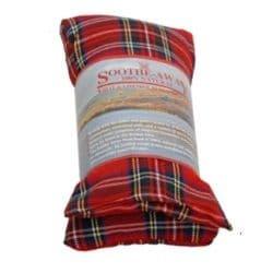 TARTAN RED Design Lavender Herbal Heat Wheat Bag Hot & Cold Pack