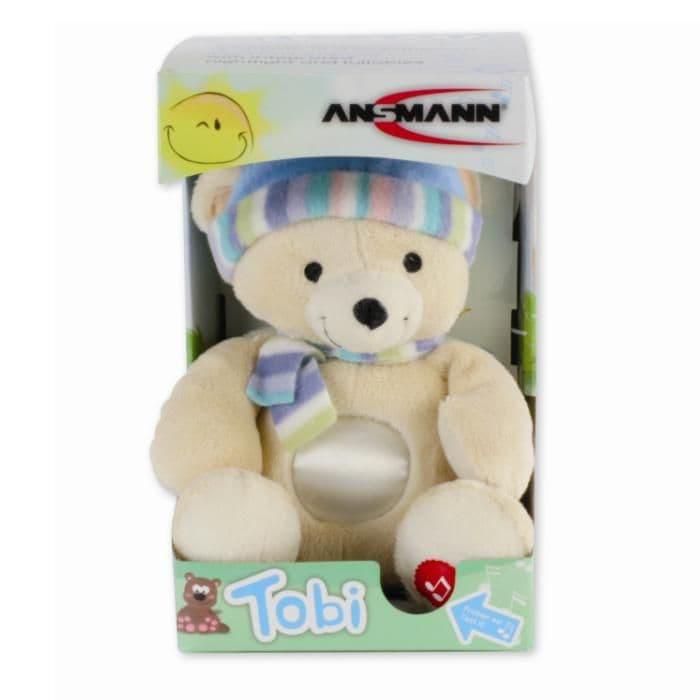 TOBI (Bear) ANSMANN Baby Cuddly Plush Nightlight & Lullaby Toy