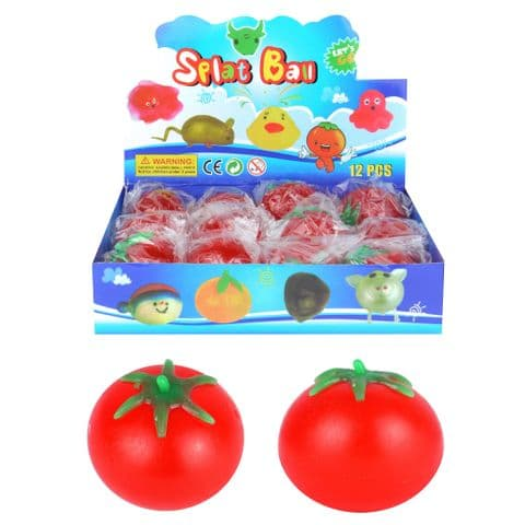 Tomato Splat Ball - Squidgy Throwing Toy Red