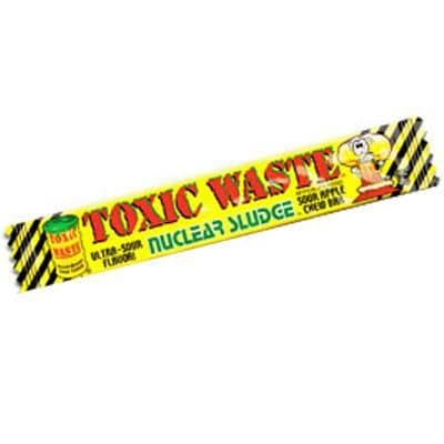 Toxic Waste Nuclear SLUDGE Chew Bar Candy - Dangerously Sour Sweets