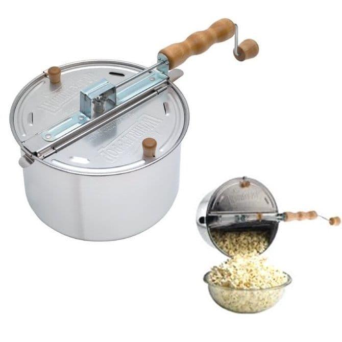 Whirley-Pop Hand Crank Popping Machine - Stove Top Popcorn Maker Pan