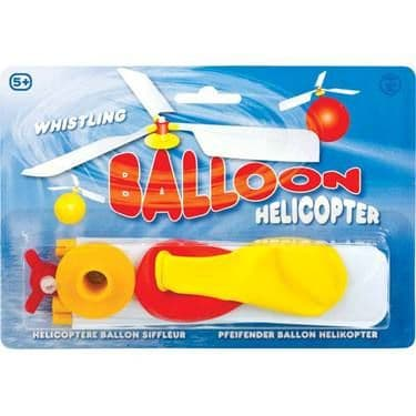 Whistling Balloon Helicopter (one supplied) & 2 Balloons