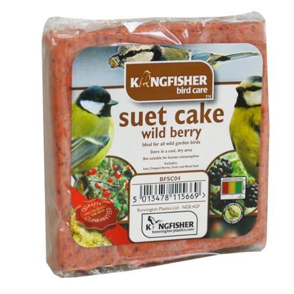 Wild Berry Suet Cake For Wild Garden Birds Kingfisher Bird Care