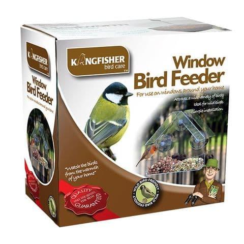 Window Bird Feeder Seed Nuts Wild Birds Kingfisher Bird Care