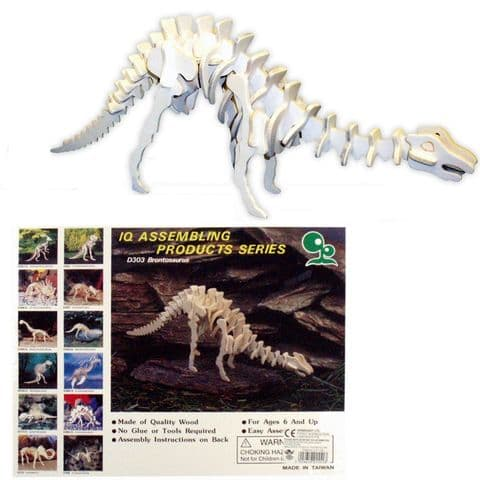 Wooden Dinosaur Assembling Wood Craft Kit (One Supplied)