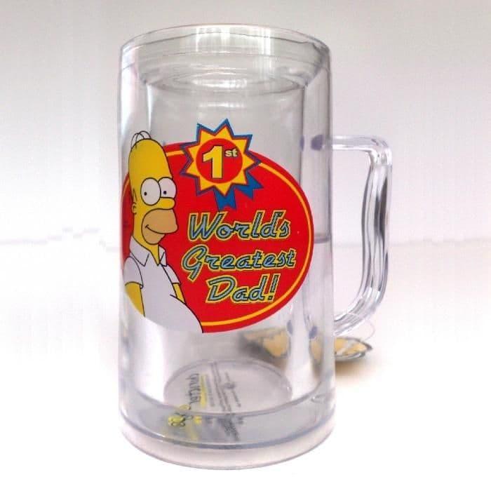 World's Greatest DAD Freezer Beer Mug - Homer THE SIMPSONS